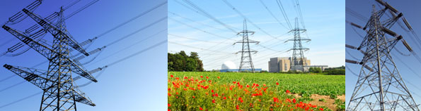 Compensation for pylons or electricity cables crossing land